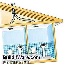 Verwenden Sie einen In-Line-Ventilator, um zwei Badezimmer zu ...