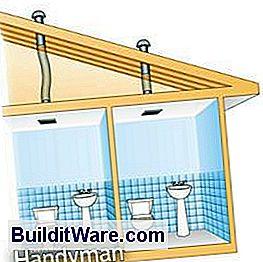 verwenden sie einen in line ventilator um zwei badezimmer zu entl ften n tzliche hinweise zu. Black Bedroom Furniture Sets. Home Design Ideas