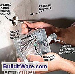 So installieren Sie die auf der Oberfläche angebrachten Kabel und ...