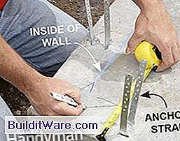 Fangen Sie Linien Als Orientierungshilfe Für Die Innenseite Der Wände Ein.  Auf Diese Weise Erhalten Sie Gerade Wände, Selbst Wenn Die Platte Nicht Ist.