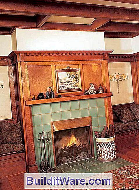 Bungalows Und Arts U0026 Crafts Häuser Waren Bekannt Für Ihre Von Einem Bankett  Umgebenen Feuerstellen